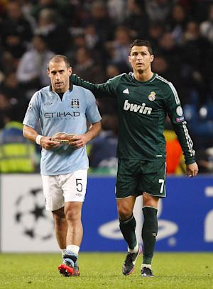 Pablo Zabaleta, left, struggled to grasp City's exit despite their star-studded lineup