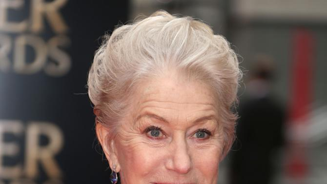 Helen Mirren  at the Olivier Awards 2013 at the Royal opera House in London on Sunday, April 28th, 2013. (Photo by Joel Ryan/Invision/AP)