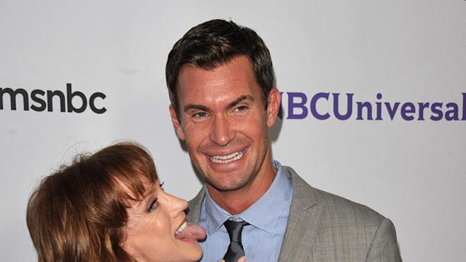 """Kathy Griffin of """"My Life on the D-List"""" and Jeff Lewis """"Flipping Out"""" attend the NBC Universal Summer TCA 2011 All-Star Party at the SLS Hotel on August 1, 2011 in Los Angeles, California."""