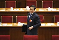 Bo Xilai, former Communist Party secretary of Chongqing, is shown in March leaving a National People's Congress's session at the Great Hall of the People in Beijing. Bo, once a rising star, has been stripped of his elite Communist Party post and his wife is being investigated for the murder of a British national