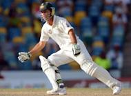 Senior batsman Ricky Ponting during the final day of the first-of-three Test matches against the West Indies in April. Ponting withdrew during last week's Sheffield Shield game for Tasmania with hamstring tightness, but said he was feeling better two days out