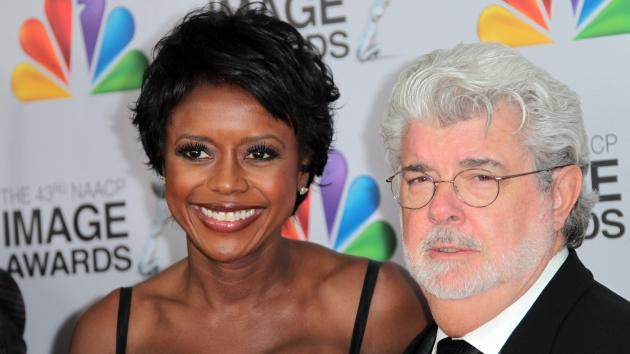 Mellody Hobson and George Lucas arrive at the 43rd NAACP Image Awards held at The Shrine Auditorium on February 17, 2012 in Los Angeles -- Getty Images