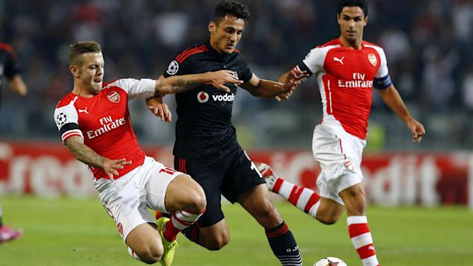 Champions League - Ramsey sent off, but Arsenal earn draw in Istanbul