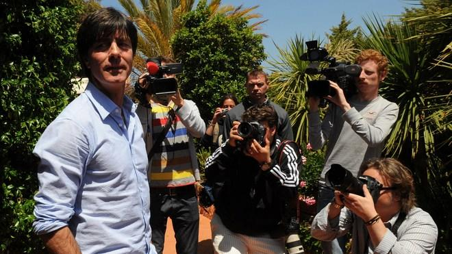 Coach Of Germany National Football Team Joachim Loew (L) Poses AFP/Getty Images