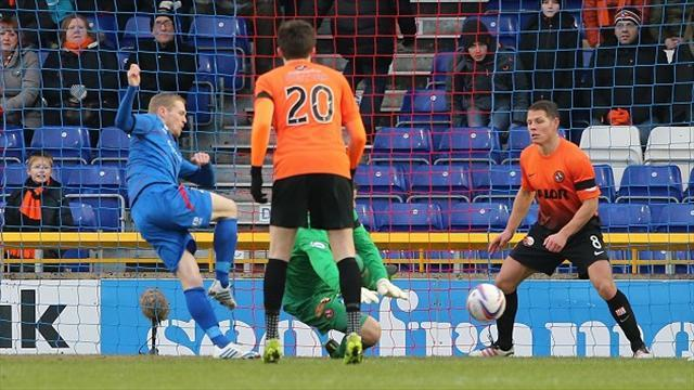 Scottish Premier League - Inverness play out draw with Dundee United