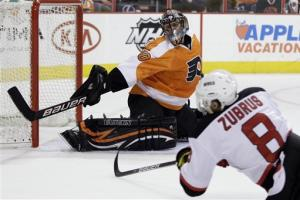 Brodeur, Devils eliminate Flyers with 3-1 win