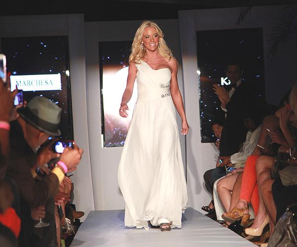 Kate Gosselin can add runway model to her resumé. The former reality TV star made her New York Fashion Week debut on Sept. 12 at the 'Real Fashion, Real Women' runway show benefitting the Bottomless C
