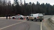 The RCMP set up roadblocks in the Beaver Dam area on Tuesday afternoon.