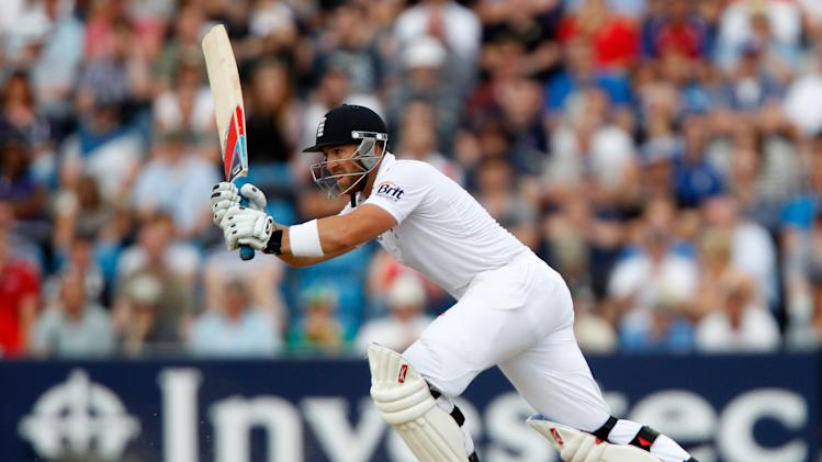 Matt Prior's impressive half-century came before rain frustrated England at Headingley