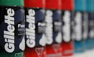Procter & Gamble's Gillette shaving foam can be seen on display at a new Wal-Mart store in Chicago