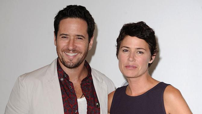"""""""The Whole Truth's"""" Rob Morrow and Maura Tierney arrive at NBC Universal's 2010 TCA Summer Party on July 30, 2010 in Beverly Hills, California."""