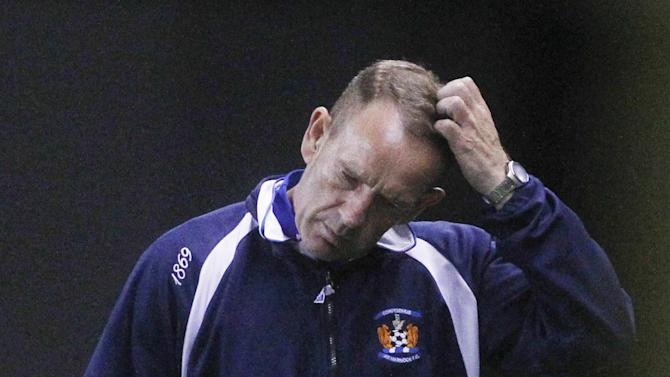 Kilmarnock boss Kenny Shiels endured a night to forget at Rugby Park