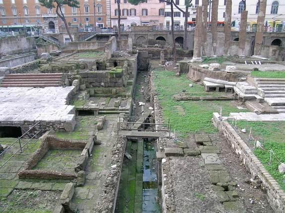 This is the monumental complex in Torre Argentina (Rome), where Julius Caesar was stabbed.