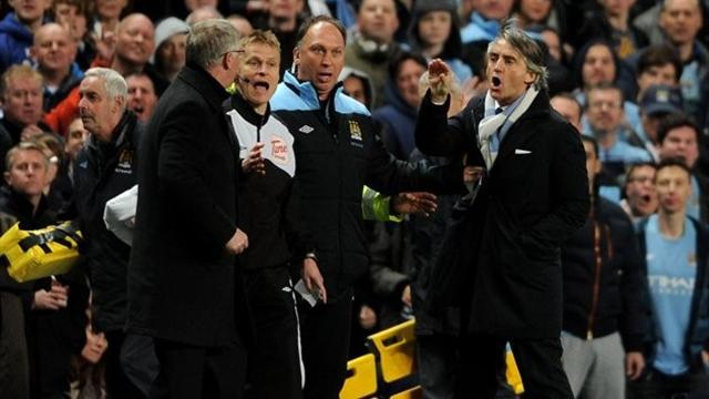 Premier League - Mancini brings Young 'dives' into Fergie verbal war