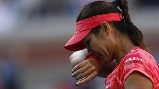 US Open - China's Li laments stage fright in semi-final loss