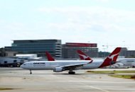This file photo shows a Qantas A330 aircraft departing from Sydney International airport, in 2011. Qantas Airways said on Monday it was investigating after an Airbus jet carrying 254 passengers suffered an engine problem over Perth