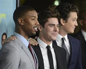 """Michael B. Jordan, Zac Efron and Miles Teller attend the premiere of film """"That Awkward Moment"""" in Los Angeles"""