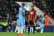 Sergio Aguero (right) comes on as substitute after Gabriel Jesus (left) who picks up an injury against Bournemouth at the Vitality Stadium in Bournemouth on February 13, 2017
