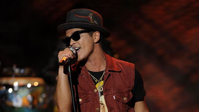 """Bruno Mars performs """"The Lazy Song"""" on """"American Idol."""""""