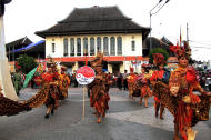 Signature culture: Batik as one of Surakarta's signature culture designs was being paraded as well. (