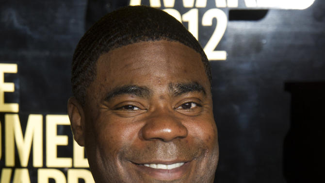FILE - This April 28, 2012 file photo shows Tracy Morgan at The 2012 Comedy Awards in New York. Billboard announced Wednesday, April 17, 2013 that the 44-year-old will host the awards show on May 19, 2013 from the MGM Grand Garden Arena in Las Vegas. (AP Photo/Charles Sykes, File)