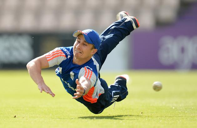 England's James Taylor during a training session