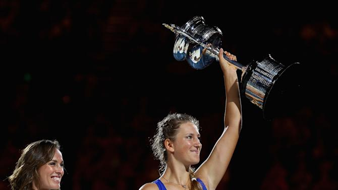 Tennis: Number one seed Victoria Azarenka won the Australian Open.