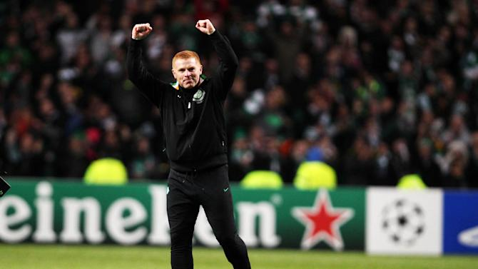 Neil Lennon could not hide his delight after seeing Celtic beat Barcelona