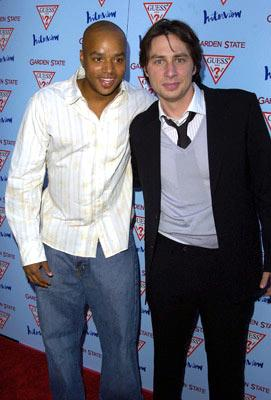Donald Faison and Zach Braff at the Los Angeles premiere of Fox Searchlight's Garden State