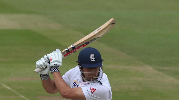 England captain Alastair Cook was dismissed for 97