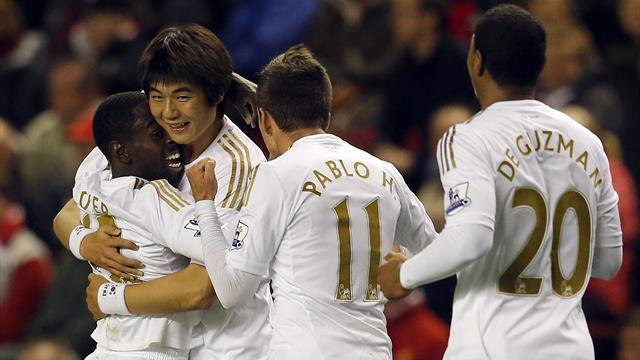 League Cup - Swansea shock Liverpool at Anfield