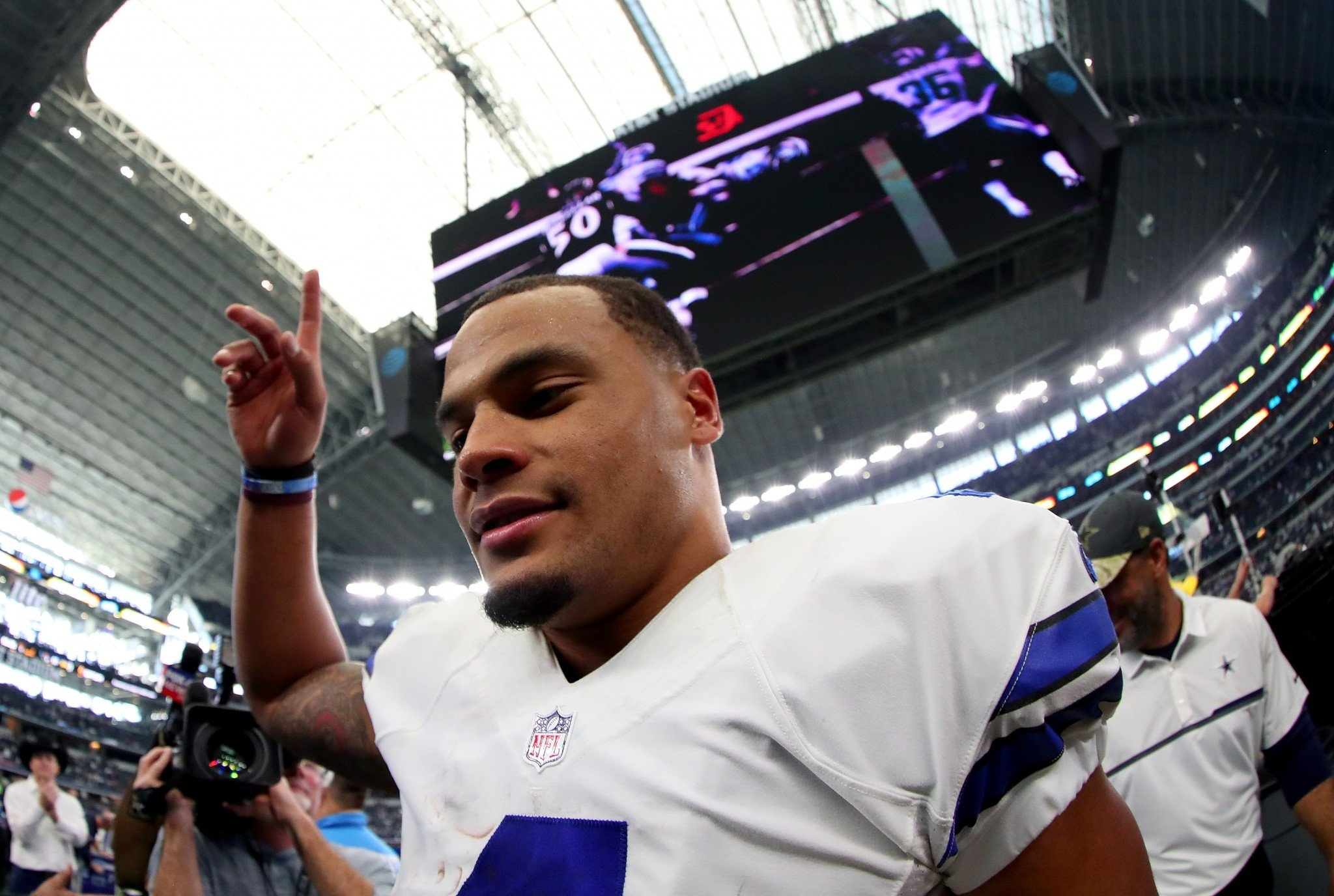 No. 1...Dak Prescott was symbolically handed the reins to the Cowboys' offense this week and responded very well. (Getty Images)