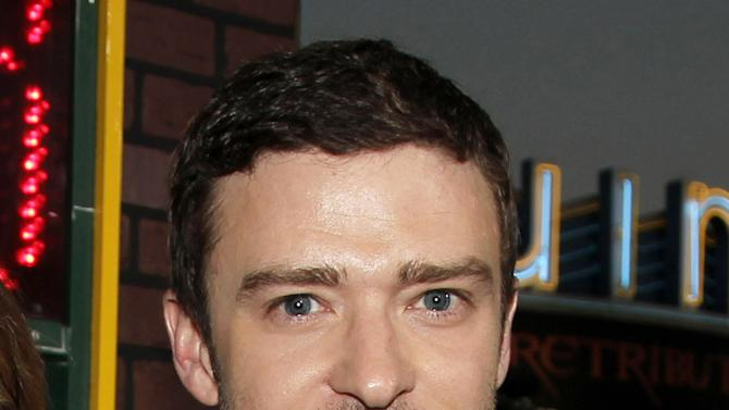 "FILE - This Sept. 19, 2012 file photo shows singer-actor Justin Timberlake at the premiere of ""Trouble With the Curve""  in Los Angeles. Timberlake has concentrated almost exclusively on his acting career over the last few years. But on Thursday, Jan. 10, 2013, he posted a video on his that showed him walking into a studio, putting on headphones and saying: ""I'm ready."" He hasn't made an album since 2006's Grammy-winning ""FutureSex/LoveSounds.""  (Photo by Matt Sayles/Invision/AP, file)"