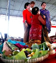 A blessed pregnancy: Mithoni is one of the region's traditions for pregnant women, where they tried on seven different types of batik in the hope that the children will have good attitude. (