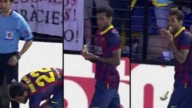Liga - Man arrested after Alves banana-throwing incident