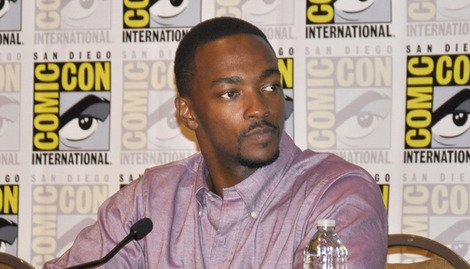 Anthony Mackie attends the Comic-Con panel.