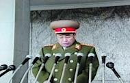 A North Korean TV grab shows Kim Jong-Gak pledging the military's loyalty to new leader Kim Jong-Un in 2011. Vice Marshal Kim Jong-Gak has been sacked as defence minister after just seven months in office