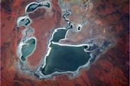 Australia - the dryness creates colours and textures that make the Outback immediately recognizable from space. (Chris Hadfield/Twitter)