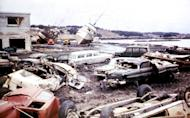 In this March 1964 photo released by the U.S. Geological Survey, tsunami damage is shown along the waterfront in Kodiak, Alaska. North America's largest earthquake rattled Alaska 50 years ago, killing 15 people and creating a tsunami that killed 124 more from Alaska to California. The magnitude 9.2 quake hit at 5:30 p.m. on Good Friday, turning soil beneath parts of Anchorage into jelly and collapsing buildings that were not engineered to withstand the force of colliding continental plates. (AP Photo/U.S. Geological Survey)