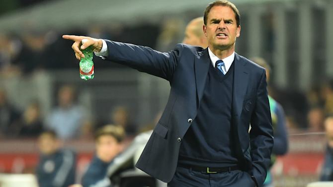 Inter '100 percent' behind De Boer
