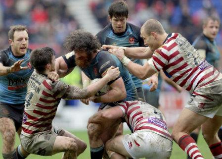Rugby League - First Utility Super League - Wigan Warriors v St Helens - DW Stadium