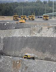 This file photo shows the Ashton open cut coal mine near Camberwell in the Hunter Valley, in Australia's New South Wales state. Australian resources, including coal, are in big demand from developing countries such as India and China as they build power projects to fuel their fast-growing economies