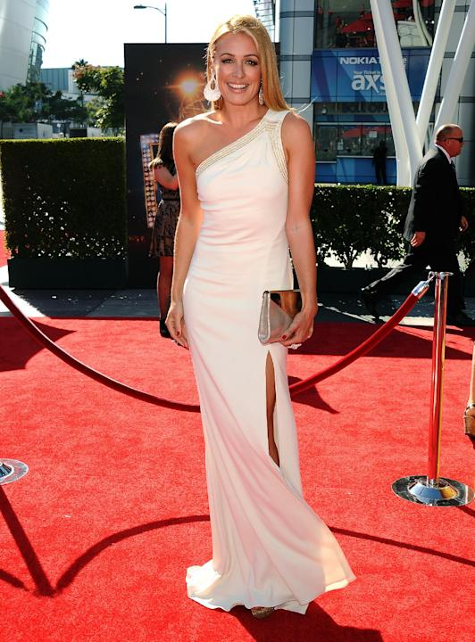 Cat Deeley arrives at the 2013 Primetime Creative Arts Emmy Awards, on Sunday, September 15, 2013 at Nokia Theatre L.A. Live, in Los Angeles, Calif. (Photo by Scott Kirkland/Invision for Academy of Te