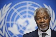 Arab League Special Envoy for Syria, Kofi Annan, speaks to the media during a press conference on June 22 at the United Nations Office in Geneva. Russia reported finding agreement with the United States on Syria and voiced optimism that crucial Geneva talks Saturday could bring a shift toward peace after 16 months of bloodshed