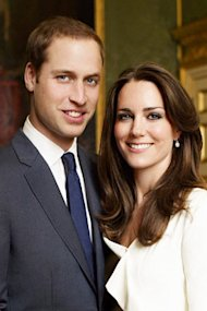 Kate Middleton did her makeup for this engagement photo. By Getty Images