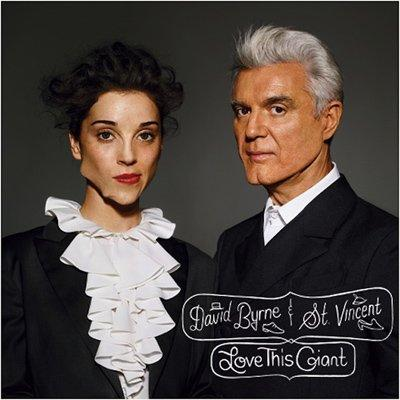 7. David Byrne and St. Vincent, Love This Giant - There is an argument for taking the boomerang-shaped jawbreaker out of your mouth before the photographer says cheese. Or, she could have at least off