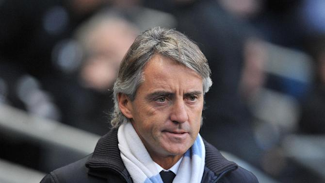 Roberto Mancini, pictured, says what the players do is more important than any perceived rivalry between him and Jose Mourinho