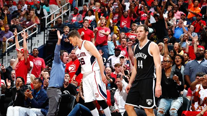 Korver scores 21, Hawks hold off pesky Nets 99-92 in Game 1