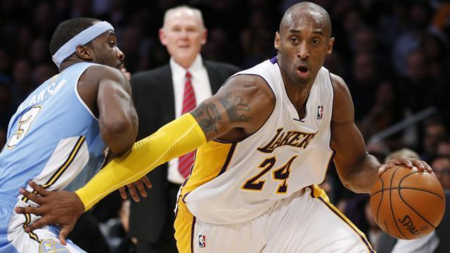 Basketball - Nuggets survive Kobe fireworks to ice Lakers