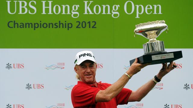 Golf - Jiminez wins third Hong Kong Open